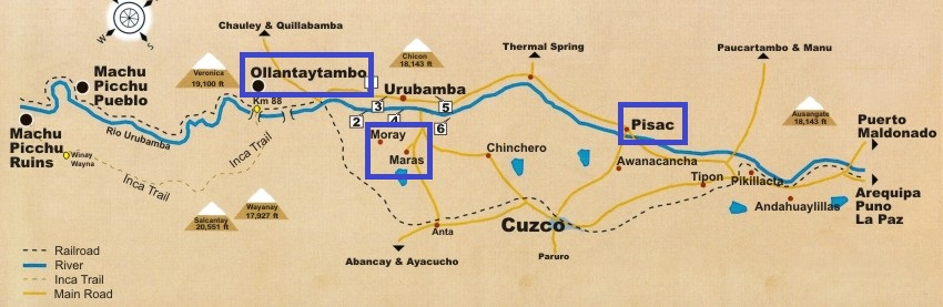 PER Sacred Valley Map 850