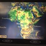 Live from algures por cima de África( e um check in quase milionário)